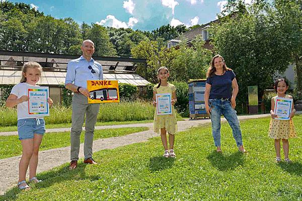 Kinder setzen sich für klimafreundliche Mobilität ein